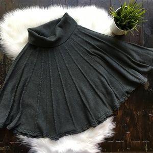 HWR Mountain Lodge Gray Sweater Skirt XS EUC